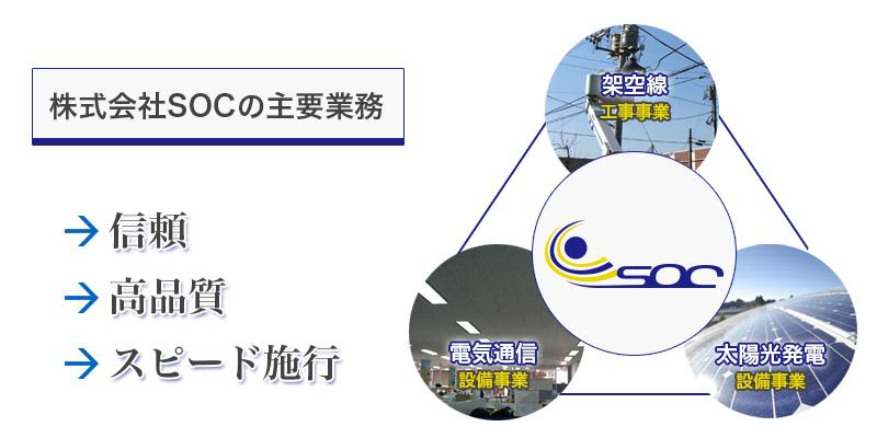 株式会社SOCの主要業務